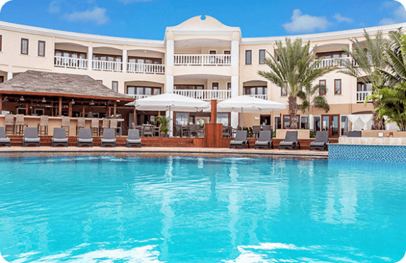 The Acoya Curacao Resort, Villas and Spa located on the island of Curaçao.