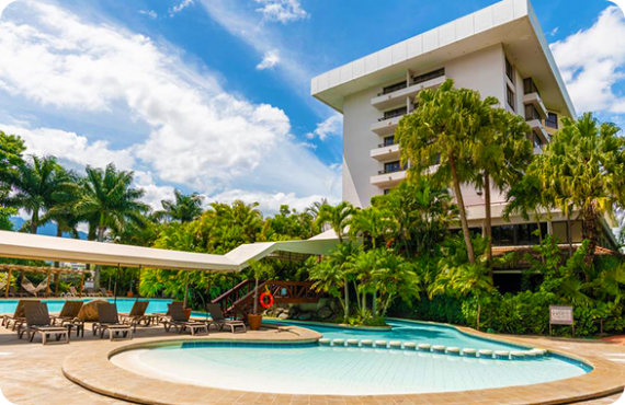 The Barcelo Premium San Jose Palacio located at the General Canas highway in Costa Rica.