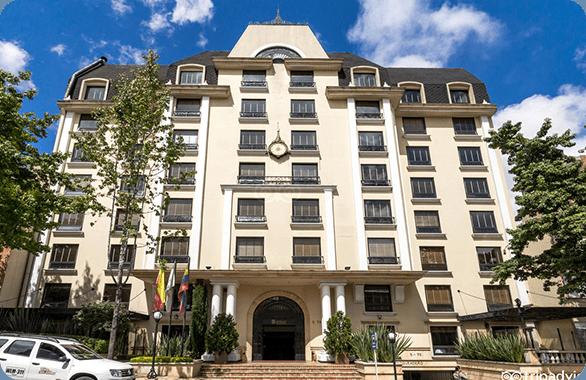 The Hotel Estelar Suite Jones located on the Carretera in Bogota, Colombia.