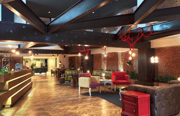 The Hotel Presidente Lobby located at the Morazon in San Jose, Costa Rica.